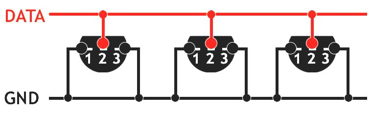 1-Wire kytkentä